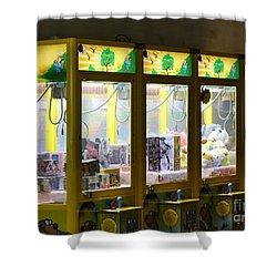 Claw Crane Game Machines In Taiwan Shower Curtain