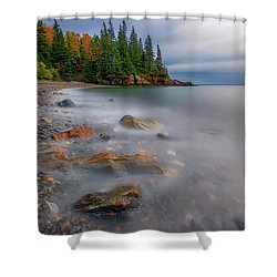 Shower Curtain featuring the photograph Clearing Storm At Owl's Head by Rick Berk