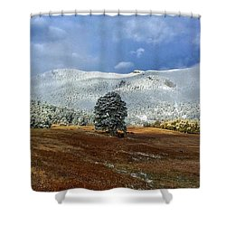 Shower Curtain featuring the photograph Clearing Storm by Dan Miller