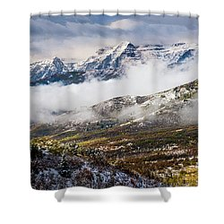 Shower Curtain featuring the photograph Clearing Storm by TL Mair