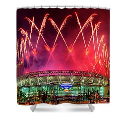 Cleveland Indians Fireworks Shower Curtain