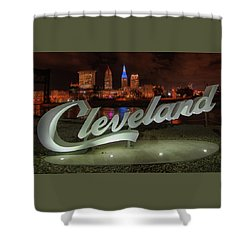 Cleveland Proud  Shower Curtain