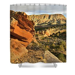 Cliffside Rock Cropping In Colorado National Monument Shower Curtain