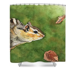 Clinging On To Fall Shower Curtain
