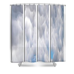 Shower Curtain featuring the photograph Cloud Abstract by Angie Tirado