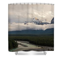 Shower Curtain featuring the photograph Clouds In The Valley by Alex Lapidus