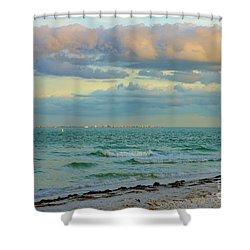 Clouds Over Sanibel Beach Shower Curtain