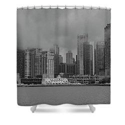 Cloudy Skyline Shower Curtain