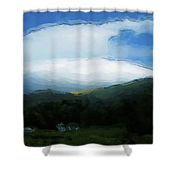 Cloudy View Painting Shower Curtain