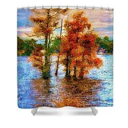 Coastal Autumn In North Carolina Ap Shower Curtain