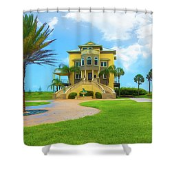 Shower Curtain featuring the photograph Coastal Living by John M Bailey