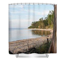 Coastal River Scene Shower Curtain