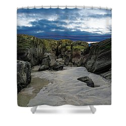 Coastline Castle Shower Curtain