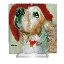 Cocker Spaniel Painting Shower Curtain