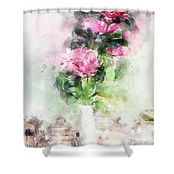Coffee Shop In Florence Shower Curtain