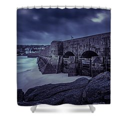 Cold Mood On The Pier Shower Curtain