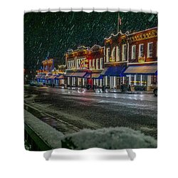 Cold Night In Cripple Creek Shower Curtain