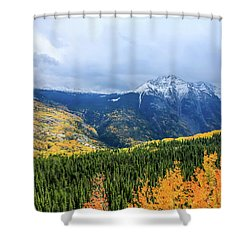 Colorado Aspens And Mountains 3 Shower Curtain