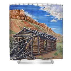 Colorado Prarie Cabin Shower Curtain