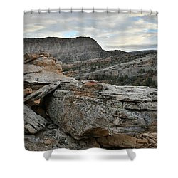Colorful Overhang In Colorado National Monument Shower Curtain