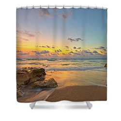 Colorful Seascape Shower Curtain