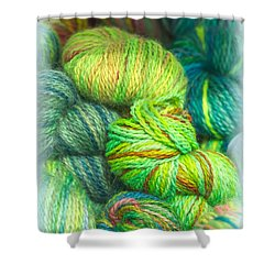 Colorful Skeins Of Yarn Shower Curtain