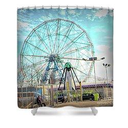 Coney Island Wonder Wheel Ny Shower Curtain