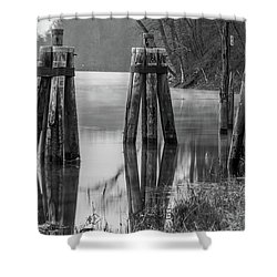 Connecticut River At Dawn Shower Curtain