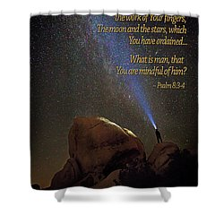 Consider The Heavens Shower Curtain