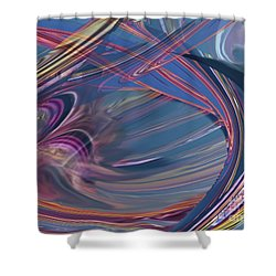 Contrail Party Shower Curtain
