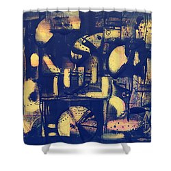 Contraption Shower Curtain