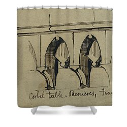 Corbel Table - Benieves, France Shower Curtain