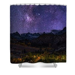 Shower Curtain featuring the photograph Cosmic Nature by Tassanee Angiolillo