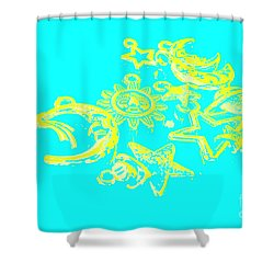 Cosmos Caricatures Shower Curtain