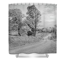Shower Curtain featuring the photograph Country Road by John M Bailey