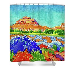 Shower Curtain featuring the painting Courthouse And Jail Watercolor by Dan Miller