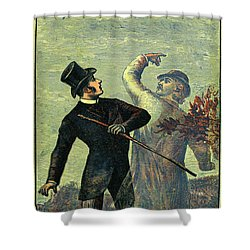 Victorian Yellowback Cover For Weird Stories Shower Curtain
