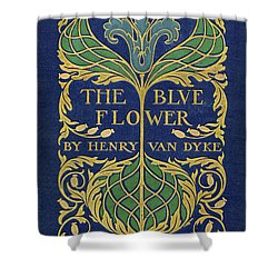Cover Design For The Blue Flower Shower Curtain