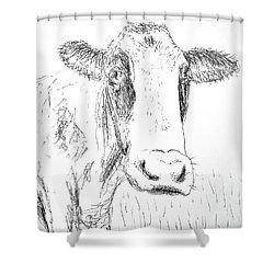Cow Doodle Shower Curtain