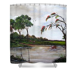 Cow Haven Shower Curtain