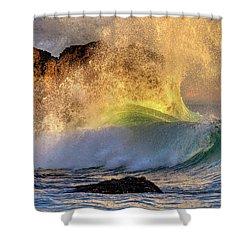 Crashing Wave Leo Carrillo Beach Shower Curtain