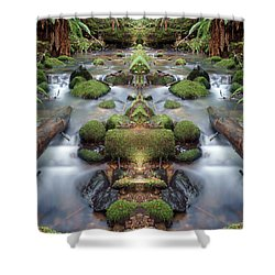 Creek Diamonds #1n Shower Curtain