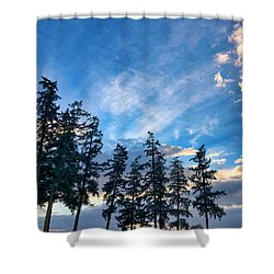 Crisp Skies Shower Curtain