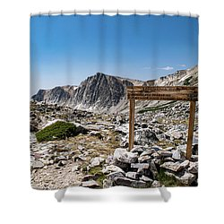 Crossroads At Medicine Bow Peak Shower Curtain