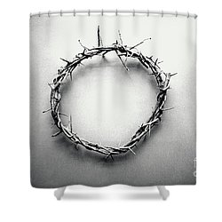 Crown Of Thorns In Black And White  Shower Curtain