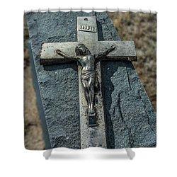 Crucifix Shower Curtain