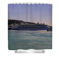 Shower Curtain featuring the photograph Cruise Ships by Tony Murtagh