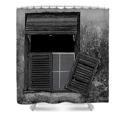 Shower Curtain featuring the photograph Crumblling Window by Stuart Manning