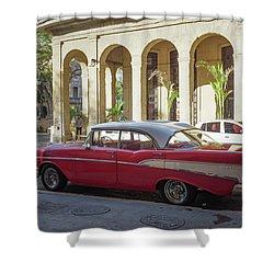 Cuban Chevy Bel Air Shower Curtain