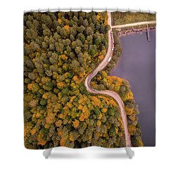 Shower Curtain featuring the photograph Curved Road At Lakeside by Okan YILMAZ